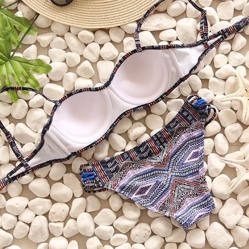 Brazilian Bikini Print Beach Body Girl 2019 Set