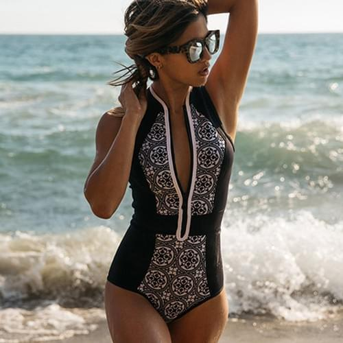 Sexy One Piece Swimsuit Women Bodysuit 2020