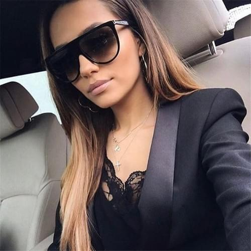 Oversized Square Sunglasses Female uv400 transparent Frame