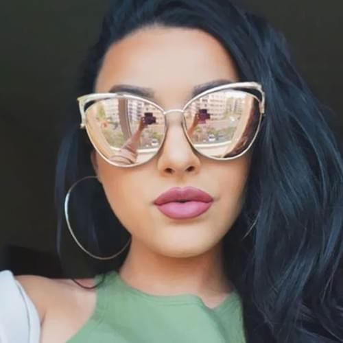Cat Eye Luxury 2018 Sunglasses Twin-Beam Mirror