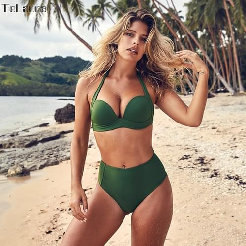 Sexy High Waist Bikini Set Swimwear Push Up 2019