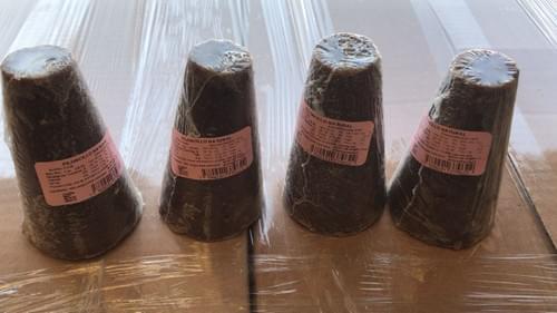 Piloncillo - Panela Dark Brown Color 100%  Sugarcane Juice Cone #4, 28 lbs Case with 56 Pieces
