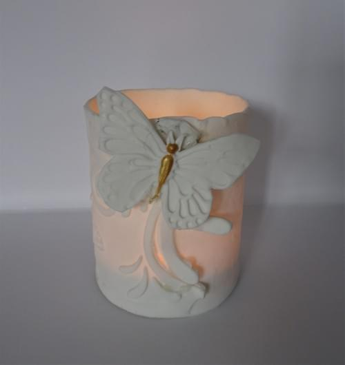 Beautiful hand made porcelain butterfly candle/trinket/ring/pen holder £12 -  £15