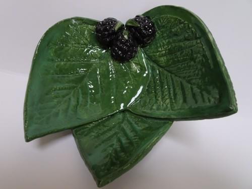 Three leaf Blackberry dish. Small