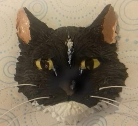 Ceramic, wall hanging cats head