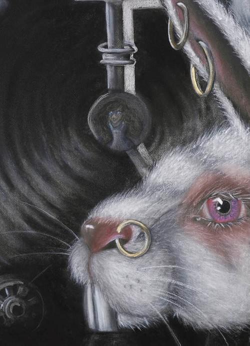 White rabbit. Alice in Wonderland collection