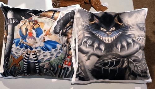 Satin feel cushions