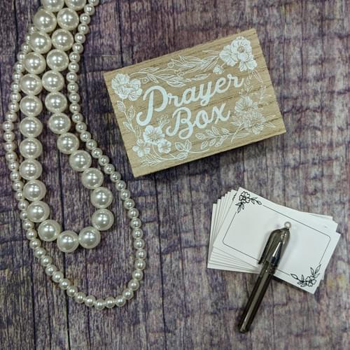 Painted Wooden Prayer Box