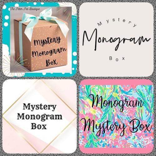 MYSTERY MONOGRAM BOX -                 SPRING / EASTER THEME