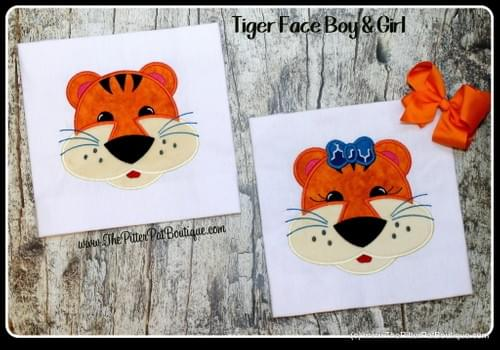 Tiger Face Shirts - Boy/Girl