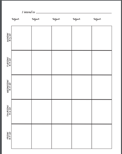 Intentional Educator PRINTABLE Teacher Planner for 2020--2021 (8-period Layout)