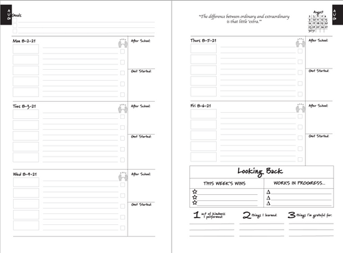 Intentional Learner Student Academic Year Planner 2021-2022