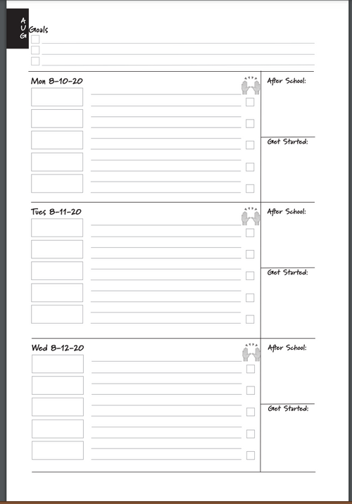 Intentional Learner:  PRINTABLE Academic Year Student Planners for School Year 2020-2021