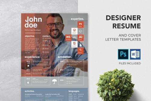 Designer Resume & Cover Letter Template