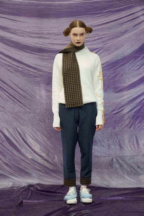 2018A/W Double-faced woolen scarf