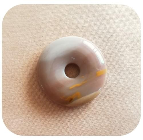 Pendentif Donut Jaspe Mookaite