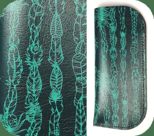Étuis Bleu pétrole - 3 motifs