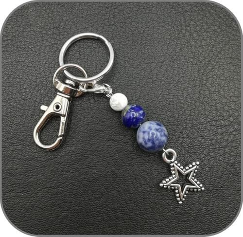Porte clés Chakra Cœur, Sacré, Gorge, Racine, Plexus solaire, 3ème Oeil, Couronne - 7 Modèles