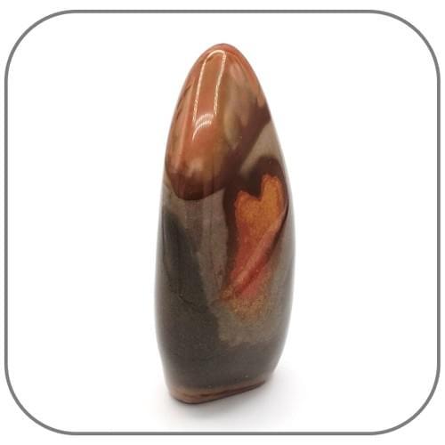Pierre décorative en Jaspe Mokaite ou Mookaite - Motif Cœur