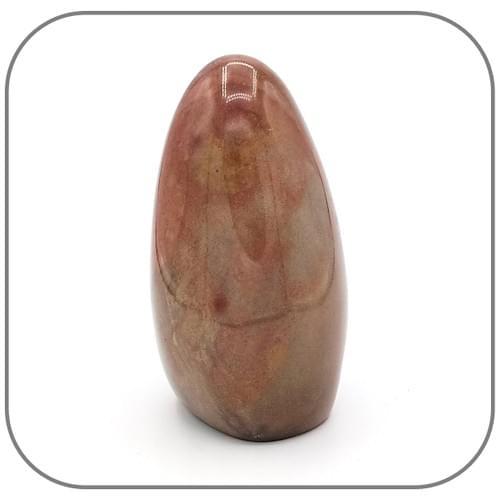 Pierre décorative Jaspe Mokaite ou Mookaite - brun rosé et bleuté et taches pourpres