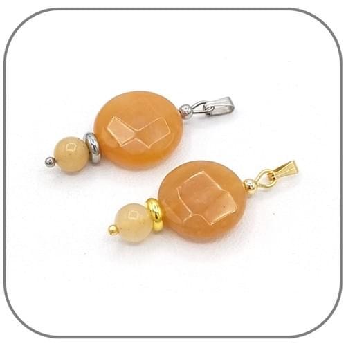Bracelet Jade Topaze Rond facettes 16mm et perles 6mm