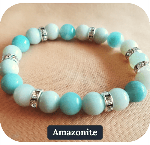 Bracelet Amazonite Pierre naturelle 8mm