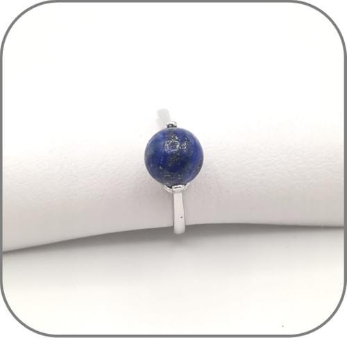 Bague Ajustable Argent 24 pierres 8mm diverses au choix