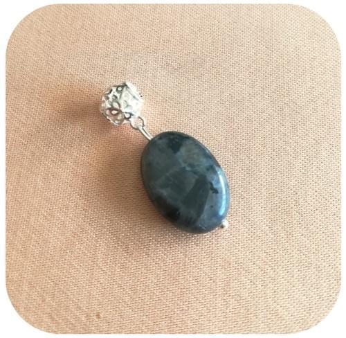 Pendentif Argent 925 Pierre naturelle Amazonite, Quartz fumé, Labradorite, Lapis Lazuli