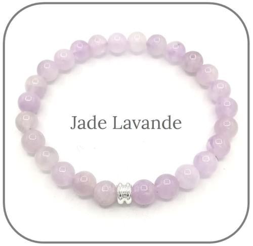 Bracelet Pierre naturelle violette 6mm Au choix : Améthyste, Jade lavande