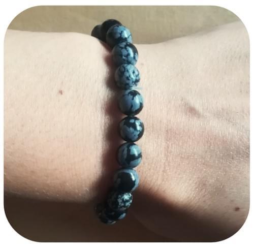 Bracelet Obsidienne Mouchetée 8mm