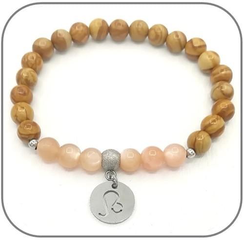 Bracelet Zodiaque Elément Feu Bélier, Lion, Sagittaire en 6mm ou 8mm