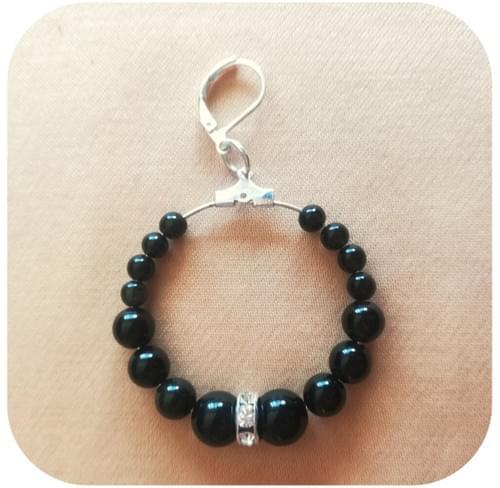 Créoles Obsidienne noire