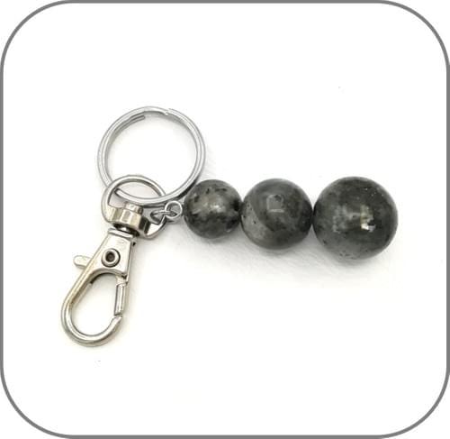 Porte clés 3 Perles dégradées - 6 Pierres au choix