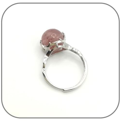 Bague Argent décor anneau tressé et Pierre 10mm au choix
