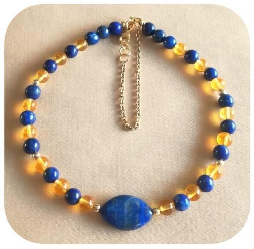 Collier Ras de cou Lapis Lazuli