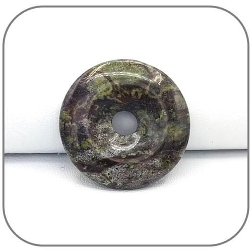 Pendentif Donut Jaspe Sang de Dragon - Héliotrope