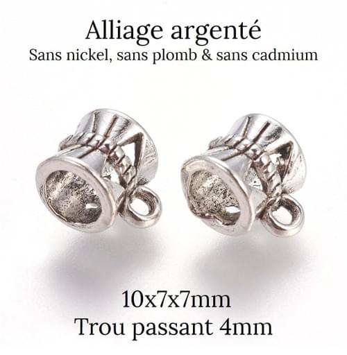 Pendentif goutte Argent Trio 8/10/12mm - Plusieurs modèles au choix