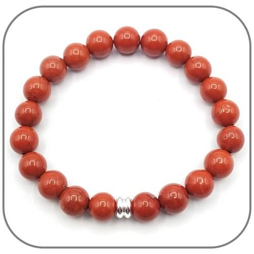 Bracelet Jaspe rouge 6mm, 8mm