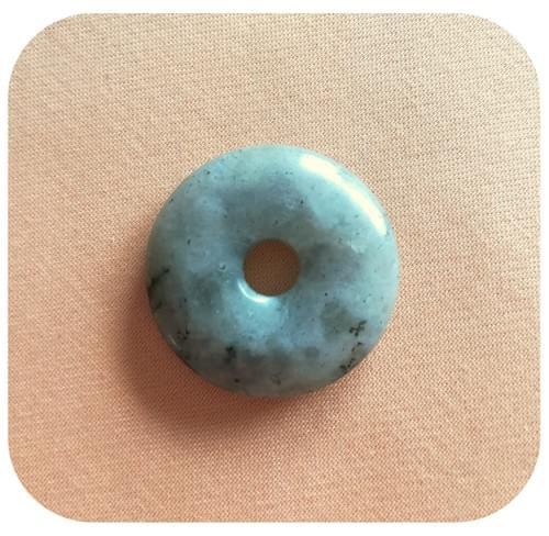 Pendentif Donut Labradorite claire