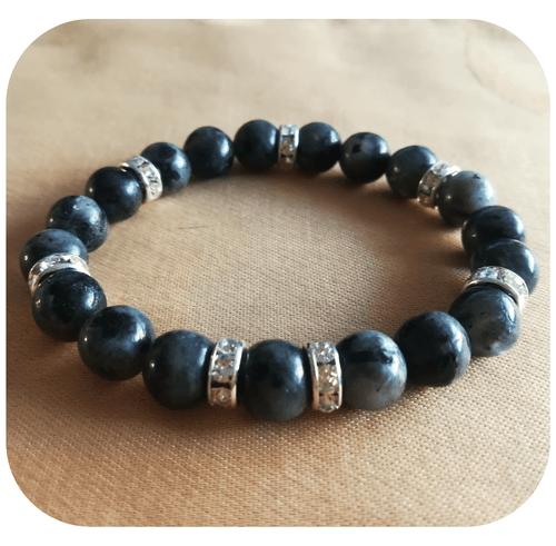 Bracelet Protection Labradorite 8mm