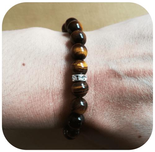 Bracelet Protection Œil de Tigre 8mm