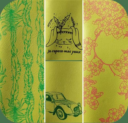 Étuis Vert anis - 4 motifs