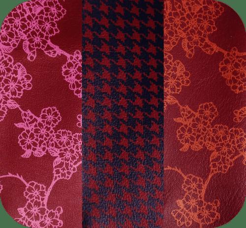 Étuis Bordeaux - 3 motifs
