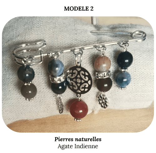 Broches et clip décoratifs en pierres naturelles