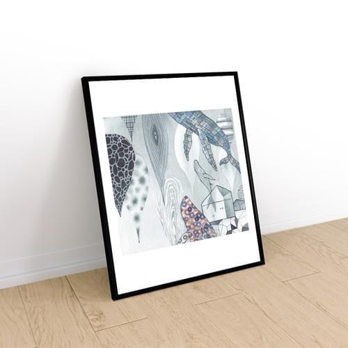 雨後鯨遊 - 複製畫不含框(10件)-免運費