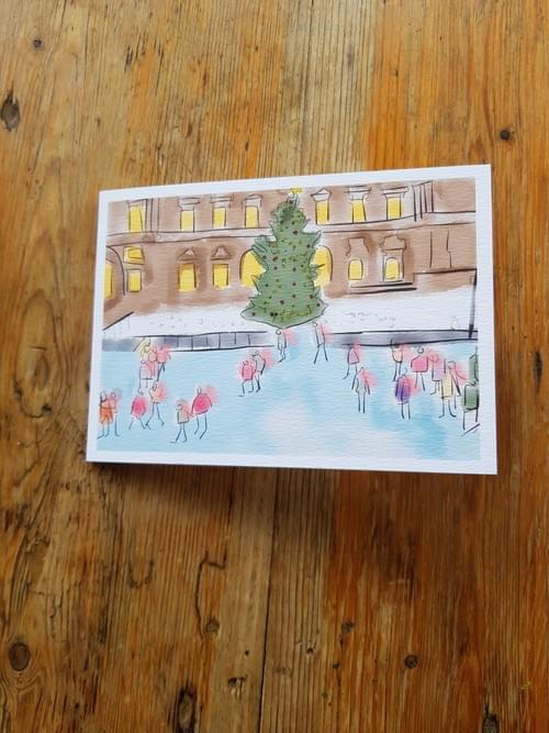 Ice Skating at Somerset House, London