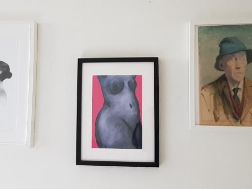 Lady in pink (Print)