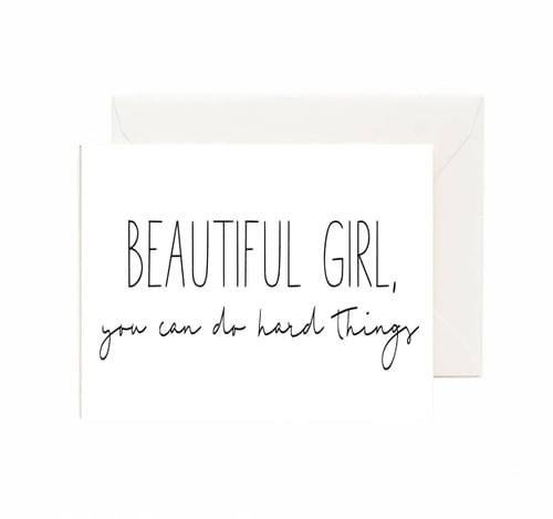 Beautiful Girl Card