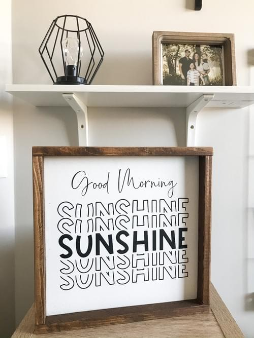 Good Morning Sunshine Wood Sign