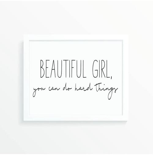 Beautiful Girl Print